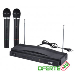 Set 2 microfoane Wireless + Receiver